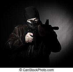 retrato, terrorista