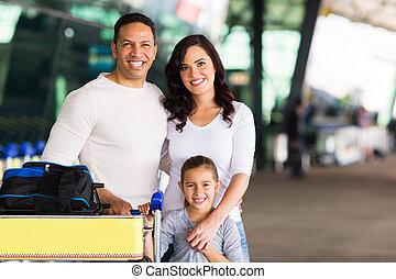 retrato, viajar, família