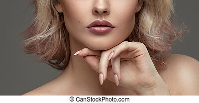 retrato, woman., belleza, sensual