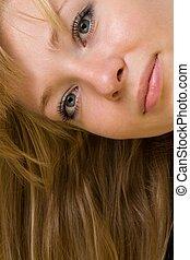 retrato, woman., jovem