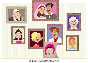retratos, família
