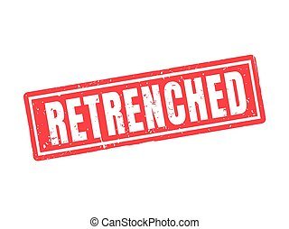 retrenched red stamp style