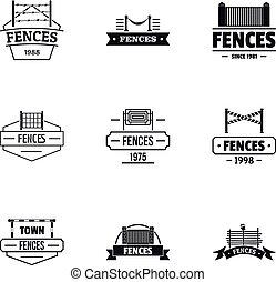 Retrieval logo set, simple style - Retrieval logo set. ...