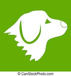 retriever, grønnes hund, ikon