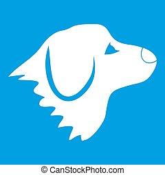 retriever, hvid hund, ikon