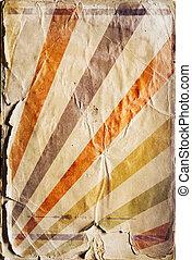 retro újjászületés, napsugár, poszter, háttér, alatt, arcszín