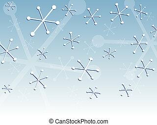 retro, śnieg