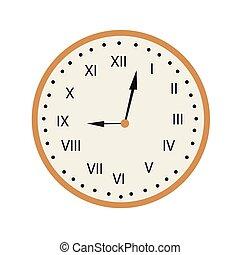 retro , απομονωμένος , ρολόι