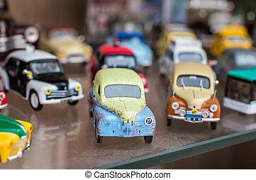 retro , γραφικός , αγώνισμα , άθυρμα άμαξα αυτοκίνητο