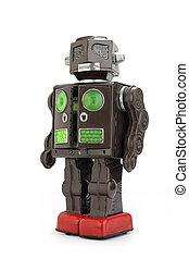 retro , κασσίτερος , ρομπότ , παιχνίδι