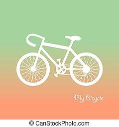 retro , ποδήλατο , μικροβιοφορέας , γελοιογραφία