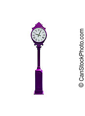 retro , ρολόι , απομονωμένος , άσπρο , με , απόκομμα ατραπός