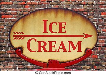 retro , σήμα , παγωτό