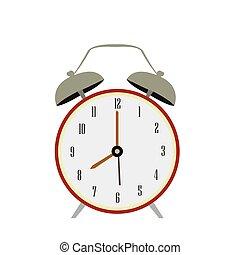 retro , τρομάζω , απομονωμένος , ρολόι