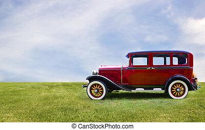 retro, 汽車。