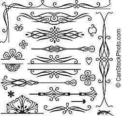 retro, 页, 装饰