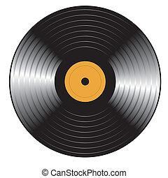 retro, 비닐, record., 벡터