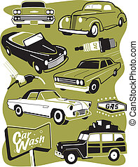 retro, 자동차, 클립 아트