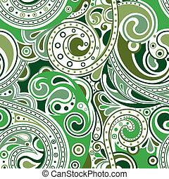 retro, 케케묵은, 두루마리, 패턴, 1