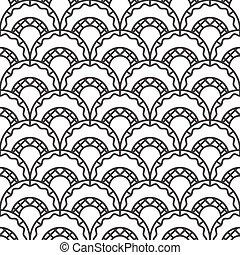 retro, 호, seamless, 패턴