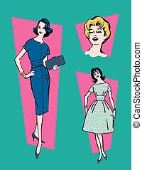 Retro 1950s Women