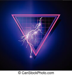 Retro 1980's Element with triangles and lightning bolts....