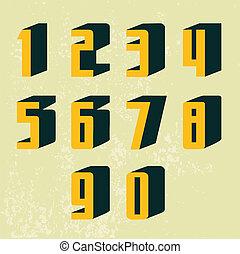 Retro 3d Numbers