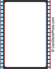 Retro 3D Red And Blue Vector Frame - A border consisting of ...