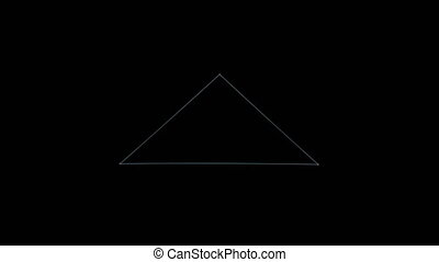 Retro 3D Vector Pyramid, Rotating - Wireframe of a rotating...