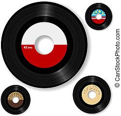 retro, 45 rpm, 기록