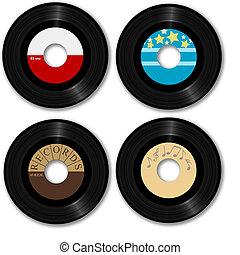 retro, 45 rpm, registro