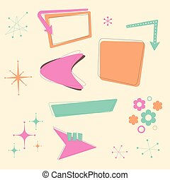 Retro 50s Design Elements - A set of retro 50s themed design...