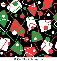 Retro 50s Pattern in Holiday Colors