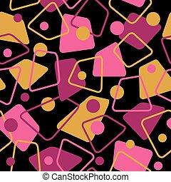 Retro 50s Pattern in Warm Colors