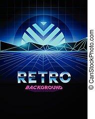 retro 80's Digital background. Vector illustration