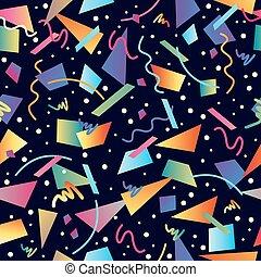 Retro 80s seamless pattern background