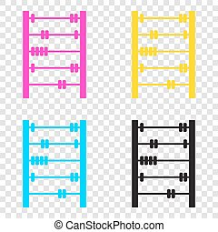 5cbbdc461e2a Toilet paper sign. cmyk icons on transparent background. cyan ...