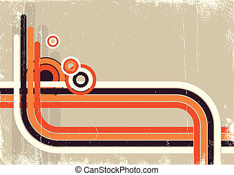 Retro abstract background for design on old paper poster