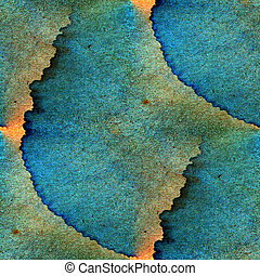 retro abstract blue, orange texture color seamless background watercolor art water