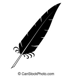 Retro abstract image with quill pen for design decoration. ...