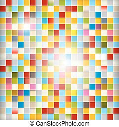Retro Abstract Vector Background - Colorful Squares