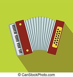 Retro accordion flat icon