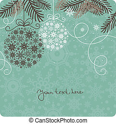 retro, achtergrond, kerstmis