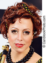 retro actress
