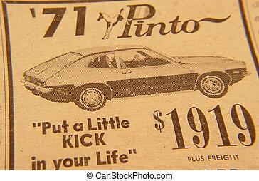 Retro Ad - Photo of 1970 Pinto Ad