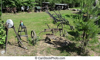 retro agricultural tools