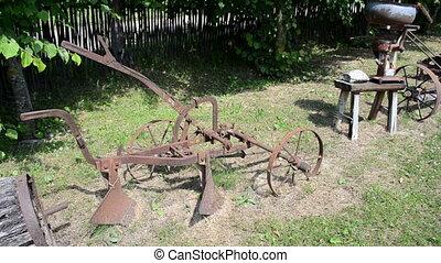 retro agriculture tools