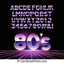 Retro Airbrushed 80s Letters - retro Airbushed style 1980's...