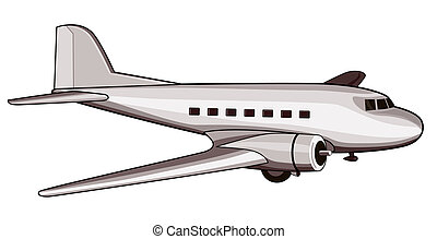Retro Airliner - Artwork on air travel