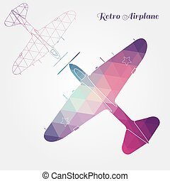 Retro airplane illustration